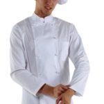 Куртка шеф-повара белая мужская купить в Санкт-Петербурге в магазине для поваров – For Chef Strore. Качественные товары. Быстрая доставка.