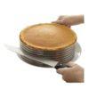 Форма для выпечки и нарезки бисквита с регулируемым диаметром 24 – 30 х 8 см