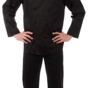 Брюки повара универсальные черные купить в Санкт-Петербурге в магазине для поваров – For Chef Strore. Качественные товары. Быстрая доставка.
