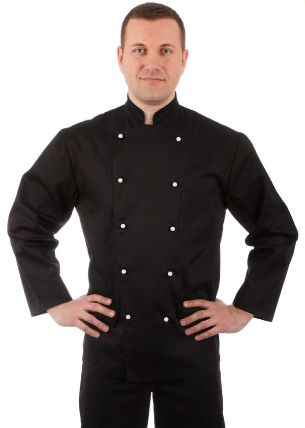 Куртка шеф-повара черная мужская