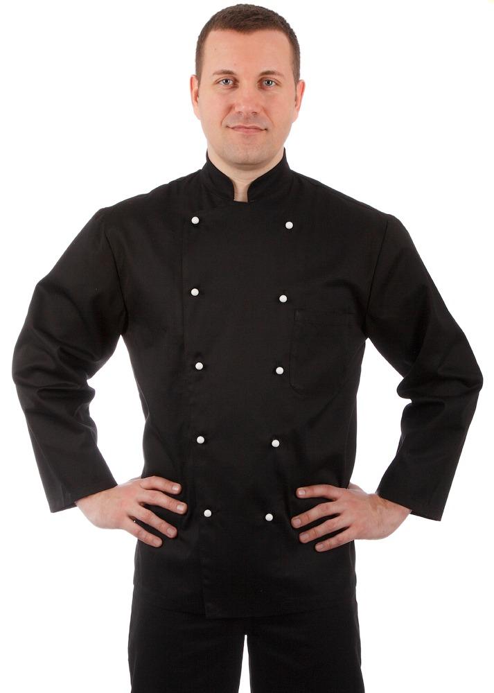 Куртка повара черная мужская купить в Санкт-Петербурге в магазине для поваров – For Chef Strore. Качественные товары. Быстрая доставка.