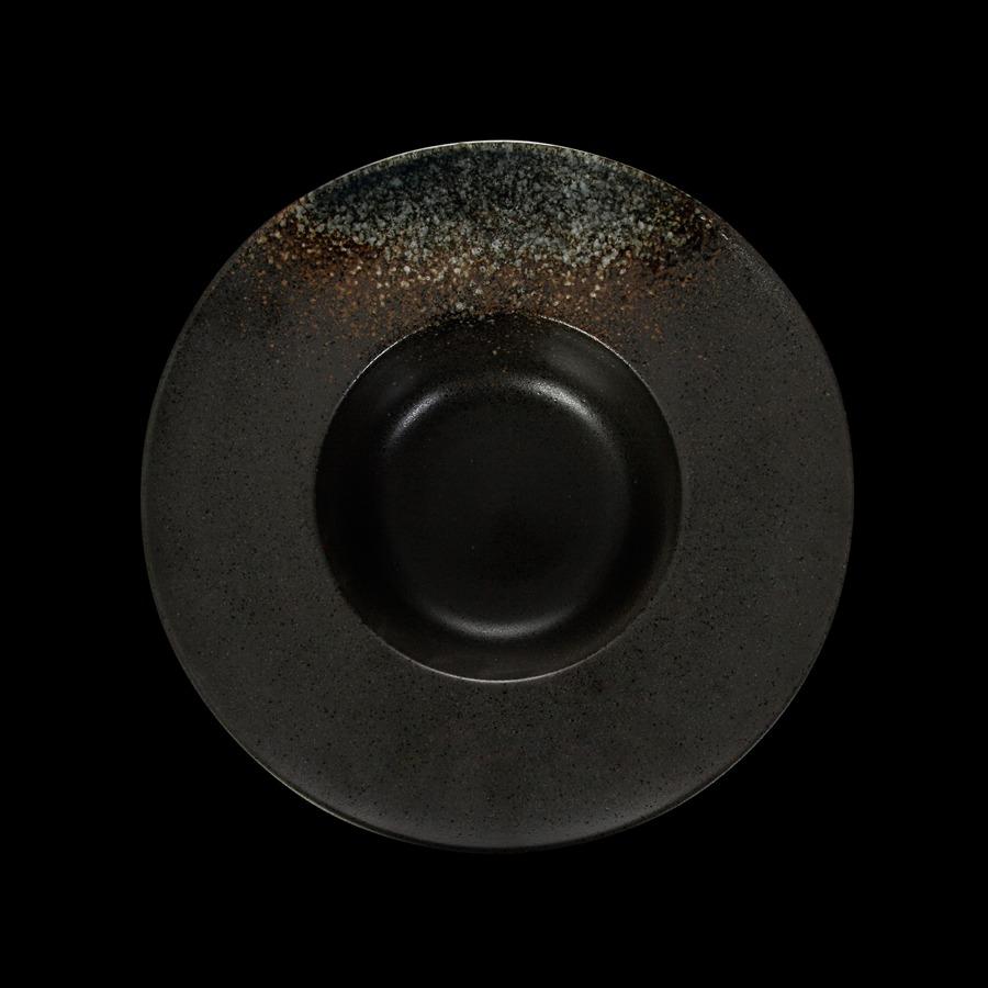 Тарелка для пасты «Corone» 230 мм черная с зеленым купить в СПб можно в магазине для поваров – For Chef Strore. Спецодежда для поваров. Быстрая доставка.