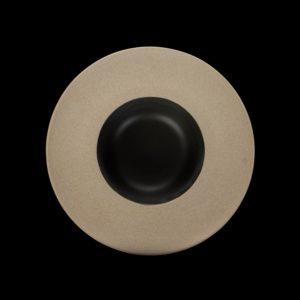 Тарелка для пасты «Corone» 252 мм бежевая с черным купить в СПб можно в магазине для поваров – For Chef Strore. Спецодежда для поваров. Быстрая доставка.