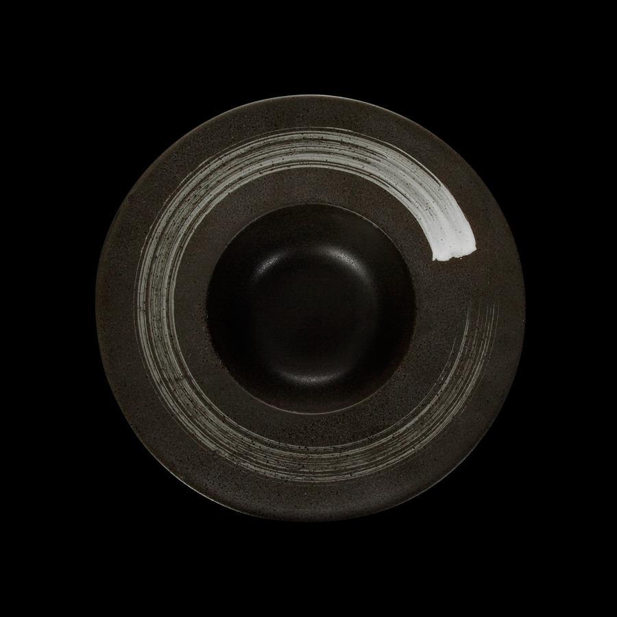 Тарелка для пасты «Corone» 252 мм черная с белым купить в СПб можно в магазине для поваров – For Chef Strore. Спецодежда для поваров. Быстрая доставка.