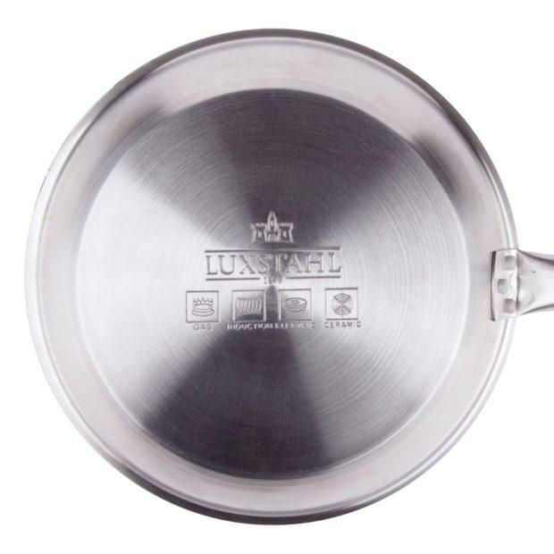 Сковорода Luxstahl 220/50 из нержавеющей стали, антипригарное покрытие
