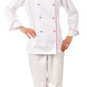 Куртка шеф-повара белая женская с манжетом