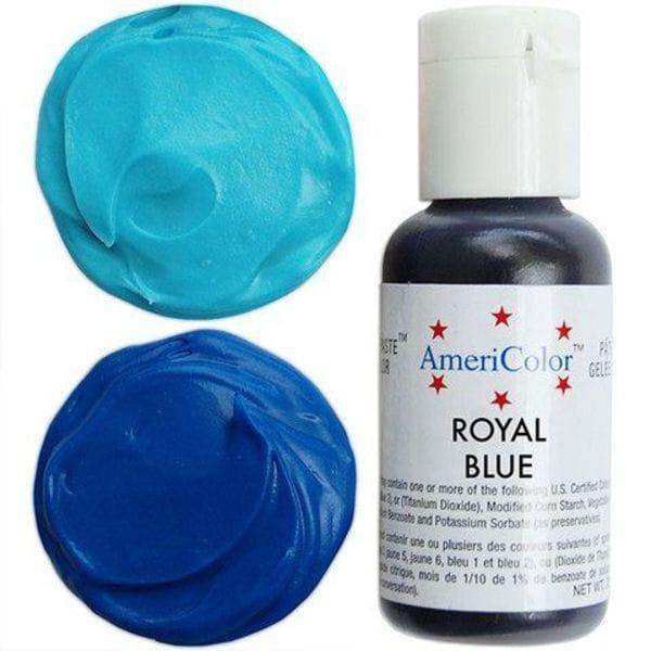 Краситель гелевый пищевой Королевский синий 21 г Americolor Royal Blue приобрести в Санкт-Петербурге и Ленинградской области можно в интернет-магазине FOR CHEF STORE.