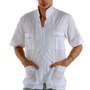 Куртка мужская короткий рукав белая купить в Санкт-Петербурге в магазине для поваров – For Chef Strore. Качественные товары. Быстрая доставка.