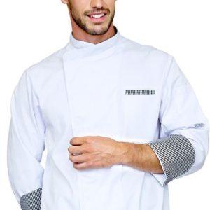 Куртка повара белая европейская рукав 3/4 купить в Санкт-Петербурге в магазине для поваров – For Chef Strore. Качественные товары. Доставка.