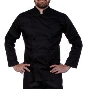 Куртка шеф-повара мужская длинный рукав спинка сетка черная купить в Санкт-Петербурге в магазине для поваров – For Chef Strore. Качественные товары. Быстрая доставка.