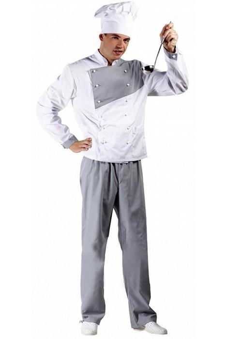 Костюм повара, белый верх/серый низ купить в Санкт-Петербурге в магазине для поваров – For Chef Strore. Качественные товары. Доставка.