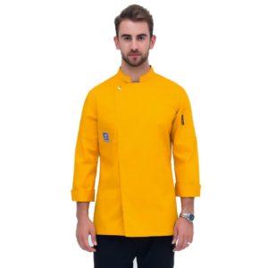 Куртка (китель) повара желтая универсальная купить в Санкт-Петербурге в магазине для поваров – For Chef Strore. Качественные поварская форма. Доставка.