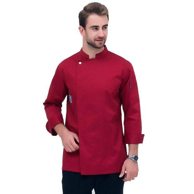 Куртка (китель) повара красная универсальная купить в Санкт-Петербурге в магазине для поваров – For Chef Strore. Качественные поварская форма. Доставка.