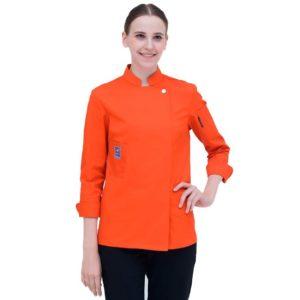Куртка (китель) повара оранжевая универсальная купить в Санкт-Петербурге в магазине для поваров – For Chef Strore. Качественные поварская форма. Доставка.