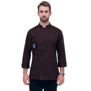 Куртка (китель) повара коричневая универсальная купить в Санкт-Петербурге в магазине для поваров – For Chef Strore. Качественные поварская форма. Доставка.